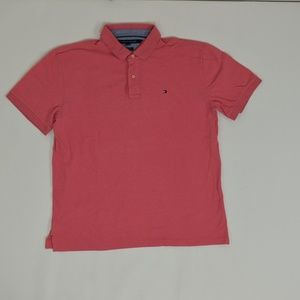 Tommy Hilfiger Regular XL Pink   Polo Cotton Solid